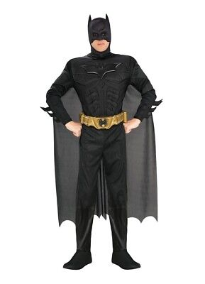 Mens Adult The Dark Knight Rises Deluxe Muscle Chest Batman Costume Outfit - Batman Outfit Adult