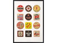 All Brand New 67 Inc Classic Posters RRP £40 selling for Only £10 New Brewery Beer Mats