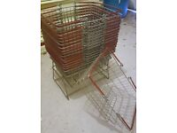 16x Wire Retail Customer Shopping Basket and Basket Holder