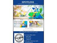 Spotless cleaning services deep clean end of tenancy NO upfront charge 100% satisfaction GUARANTEED