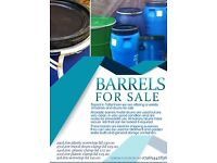 Plastic barrel 290Litre large ideal containers for shipping, gardening/allotment water butt, storage