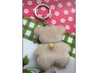 Cute teddy bear keyring new (can post)