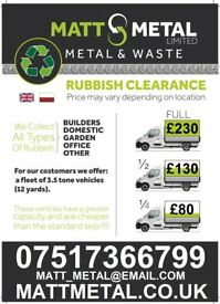 RUBBISH CLEARANCE WASTE DISPOSAL HOUSEHOLD BUSSINES COMMERCIAL GARDEN REMOVAL SAME DAY PICKUP LONDON