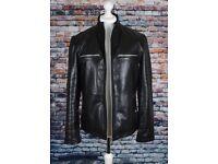 Mens Leather Biker Style Jacket .. size Large