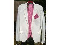 Men's White Jacket & Waistcoat Set