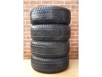 SET 4X 225/55/R16 99H DUNLOP SP WINTER SPORT 4D M+S XL EXTRA LOAD, PART WOR SNOW TYRES 5mm 225 55 16