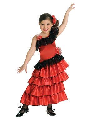 Mädchen Kind Kleine Rote Spanisch Prinzessinnenkleid - Spanische Prinzessin Kostüm Kind