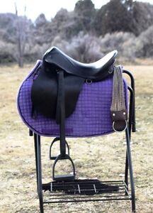 RARE-unique-PASO-FINO-horse-SADDLE-endurance-LEATHER-pleasure-GAITED-MESACE-nr