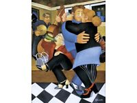 Beryl Cook (1926 - 2008) 'Shall We Dance' (2002) signed limited edition (211/650) litograph print