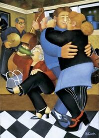 Beryl Cook (1926 - 2008) 'Shall We Dance' signed limited edition (211/650) lithograph print