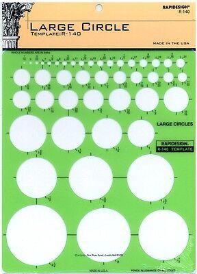 Berol Rapidesign Template - Large Circle - R-140