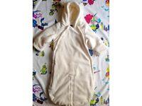 Teddy bear Snowsuit/Sack 6-9 months (Baby Gap)
