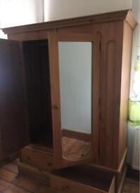 Handmade pine wardrobe