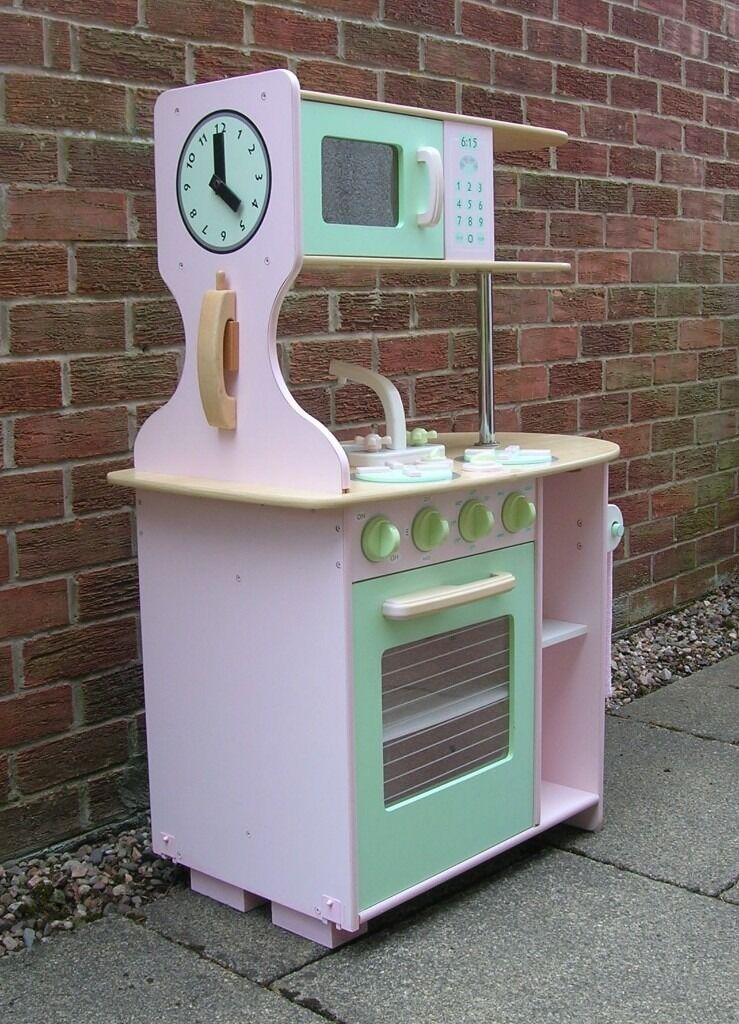 ELC Wooden Double Sided Farmhouse Kids Toy Kitchen in Kirkcaldy ...
