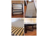 A Single Guest Fordable Bed with Mattress to sale - in good condition