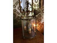 Vintage French Brass Light