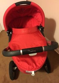 Red Quinny Buzz Complete travel system inc. Maxi Cosi isofix base