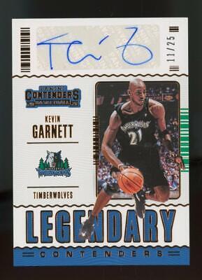 2021 Panini Contenders Legendary Kevin Garnett 11/25 Auto Autograph