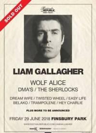 Liam Gallagher Finsbury Park 4 tickets