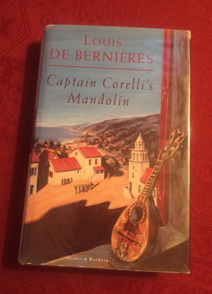 Signed copy of Captain Correlli's Mandolin by Louis De Bernieres. Excellent condition