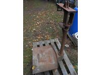 Avery vintage cast iron heavy weight platform scales-planter or garden feature or bird table.