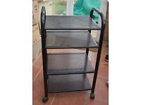 """Storage Rack On Casters - 4 Shelves Portable METAL 36"""" Tall 20"""" wide 15"""" Deep"""