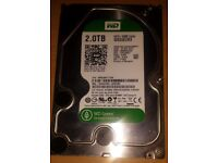 Western Digital WD Green 2 Tb internal 64 Mb Sata 3 hard disk drive
