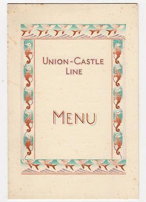 "Breakfast Menu card for R.M.M.V. ""Athlone Castle"", August 1939 (C29403)"