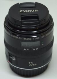 Brand New Canon EF 50mm f/2.5 Compact Macro Lens