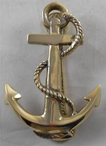 Solid brass fouled anchor doorknocker nautical door knocker doorknockers - Nautical door knockers ...