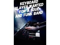Keyboard player for a funk and Soul band