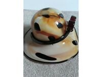 murano style glass ladies hat bowl