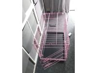 Pink dog cage