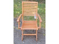 4 Wooden Garden Chairs - Nearly New