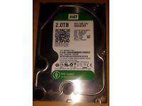 Western Digital WD Green 2 Tb internal 64 Mb Sata 3 hard disk drive