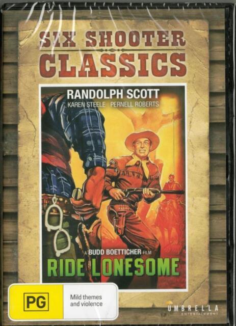 RIDE LONESOME - RANDOLPH SCOTT -  NEW REGION 4 DVD FREE LOCAL POST