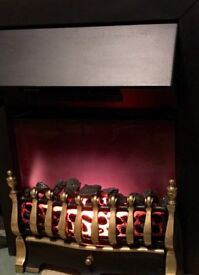 Electric gas flame effect fire