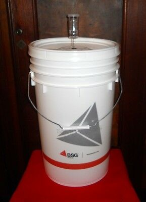 Brew Kit - BUCKET 6.5 GALLON PRIMARY FERMENTER w/ LID+AIRLOCK HOME BREWING BEER WINE KIT