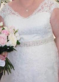 Venus Bridal Ivory Organza A-Line Wedding Dress