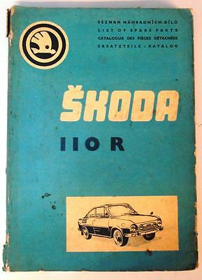 SKODA 1100 R - Car Parts List - 1973 - Czech, English, French & German
