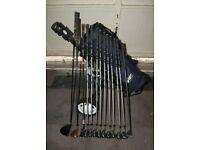 Slazenger Big Ezee Golf Clubs 3 Iron-SW + Woods, Putter, Bag & Trolley + Extras