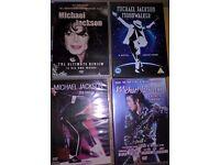 4X MICHAEL JACKSON DVDS