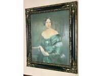 The Artist's Sister - Lovely Large Painting with Frame for Sale - £40