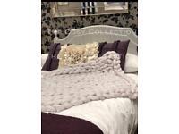 Super chunky knit blanket, Merino wool blanket, hand knit