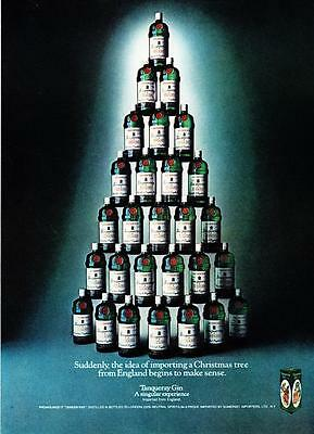 1976 Tanqueray Gin Bottles Christmas Tree photo