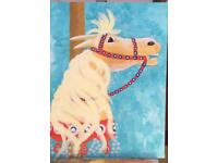 Original art Carnival horse