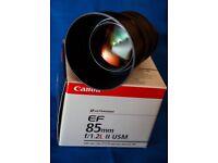 Canon EF 85mm F/1.2 L Mark II USM lens