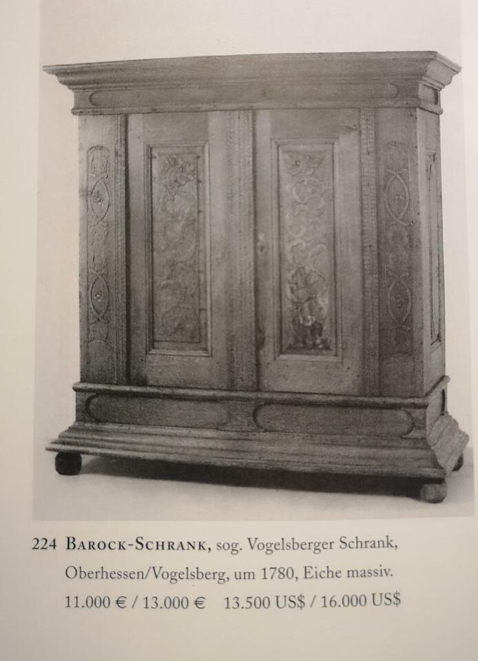 Barock Schrank Eiche Vogelsberger Schrank Oberhessen um 1770 in Hessen - Ehringshausen
