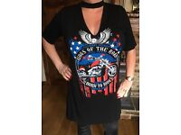 Women's King Of The Road Choker Tshirt