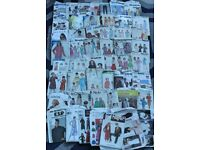 JOB LOT OF 50 SEWING PATTERNS, VINTAGE (FROM 1950's) & MODERN DAY (lot 3)